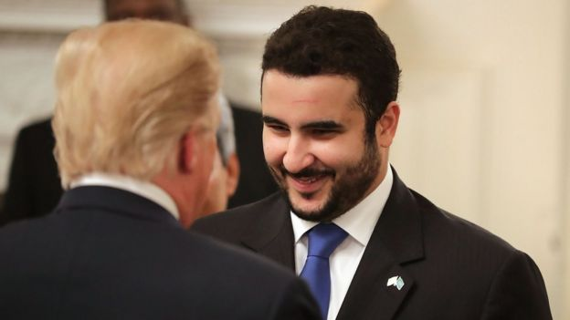 Принц Халид ибн Салман и Дональд Трамп