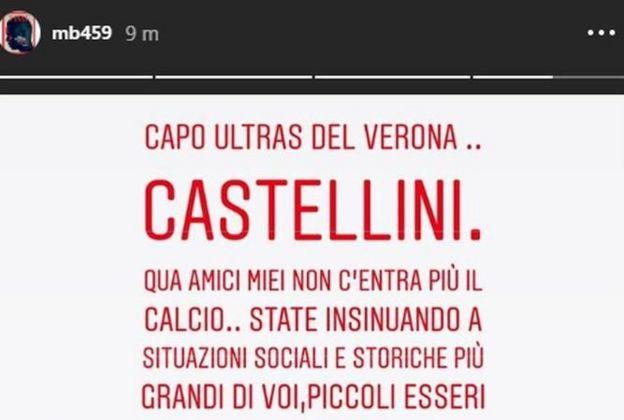 Mario Balotelli'nin Instagram'dan yaptığı açıklama sonrası