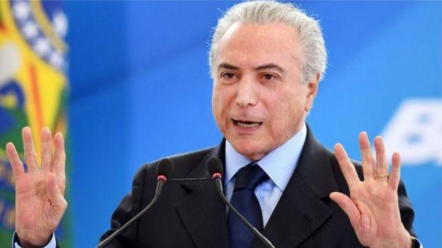 Presidente Temer durante evento em Brasília