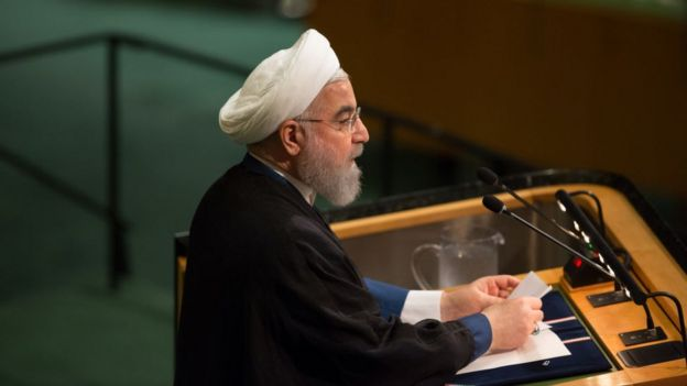 El presidente de Irán.
