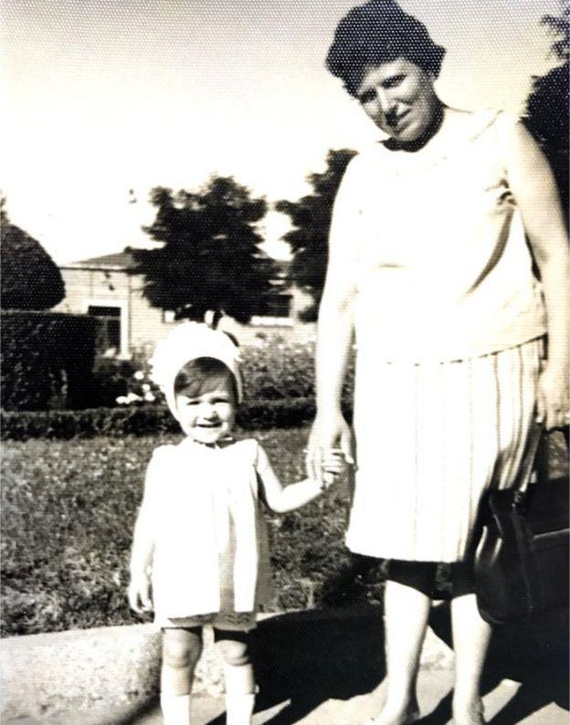 Young Inés Madrigal with her adoptive mother, Inés Pérez