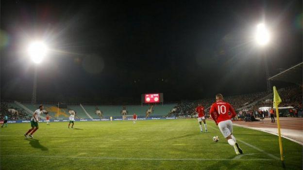 Jugadores en el estadio Vasil Levski