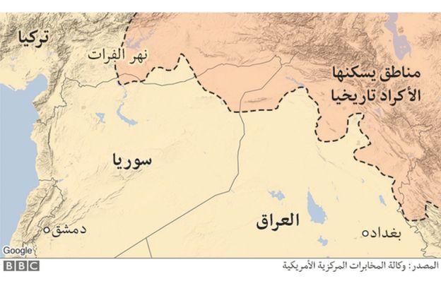 المناطق ذات الأغلبية الكردية