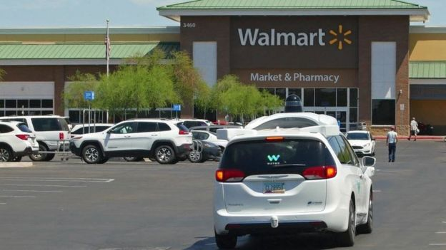 Google cars self-drive to Walmart supermarket in trial - BBC