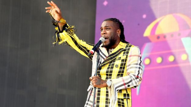 Burna Boy performs on Coachella Stage during the 2019 Coachella Festival in April 2019.