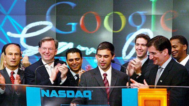 Eric Schmidt at Google's Nasdaq debut