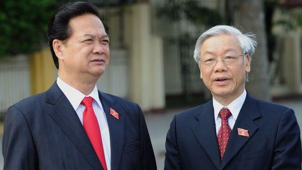 Thủ tướng Nguyễn Tấn Dũng và Chủ tịch Quốc hội Nguyễn Phú Trọng tháng 5/2010
