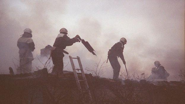 Bombeiros em Chernobyl