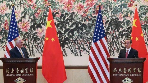 Rex Tillerson en China