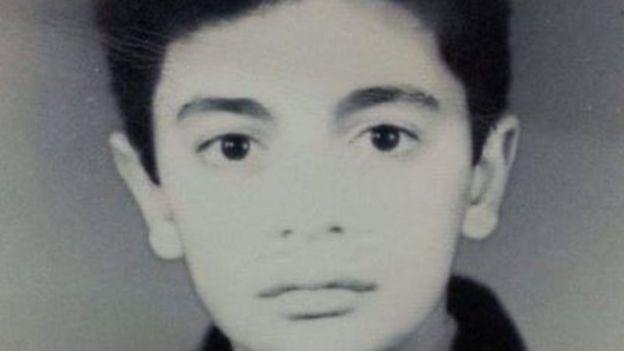 Taimour Abdulla Ahmed, a los 13 años.