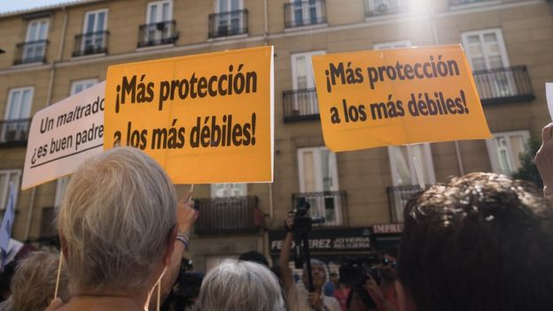 Demonstrations on 14 August 2017 in Madrid, Spain, in support of Juana Rivas