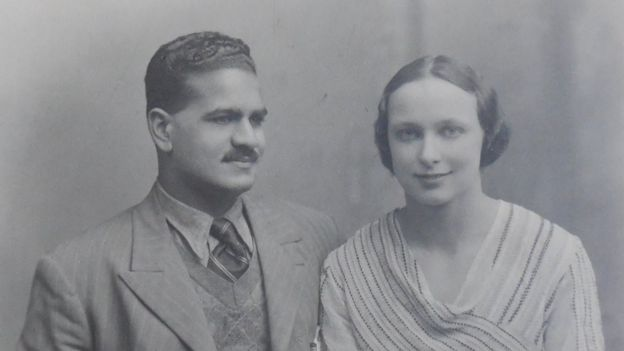 The engagement photo of Freda and BPL taken at Oxford in 1933
