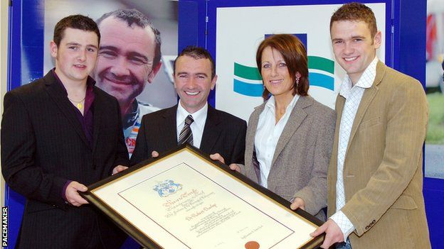 Michael, Robert, Louise and William Dunlop