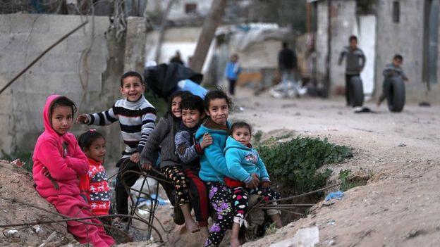 Crianças em Gaza