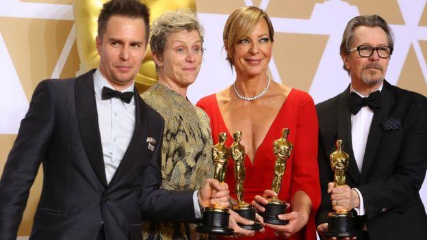Sam Rockwell, Frances McDorman, Allison Janney y Gary Oldman