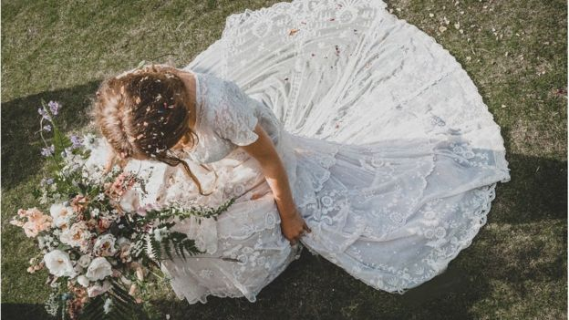 Tess Newall on her wedding day150 year old wedding dress lost at dry cleaners found   BBC News. Dry Cleaner Wedding Dress. Home Design Ideas