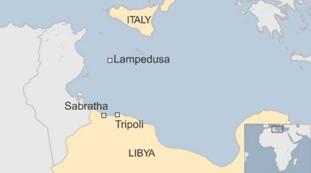 Thousands of migrants rescued off libya bbc news map gumiabroncs Images
