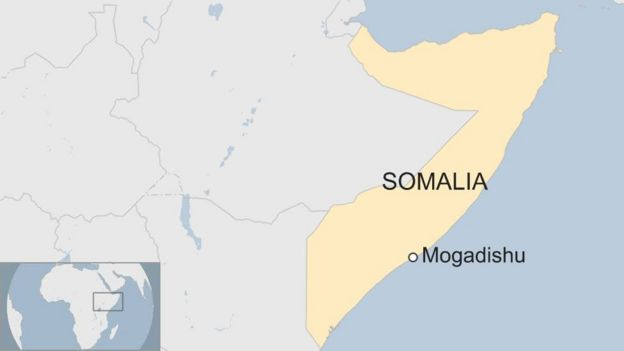A map showing Mogadishu