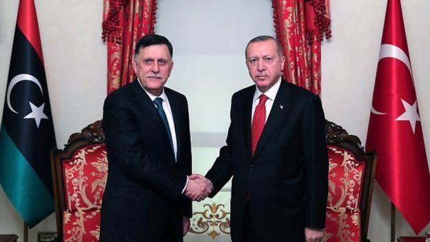 Trablus Hükümeti lideri Fayez el Sarraj ve cumhurbaşkanı Recep Tayyip Erdoğan