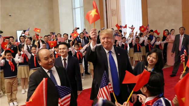 U.S. President Trump meets with Vietnamese Prime Minister Nguyen Xuan Phuc in Hanoi