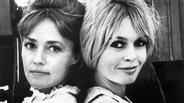 Жанна Моро и Бриджит Бардо