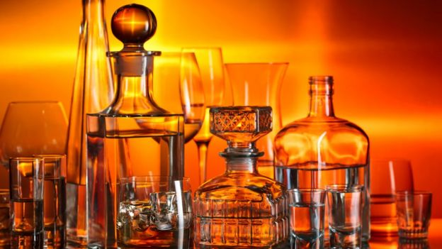 vidros de bebidas