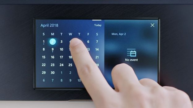 Touch pad calendar
