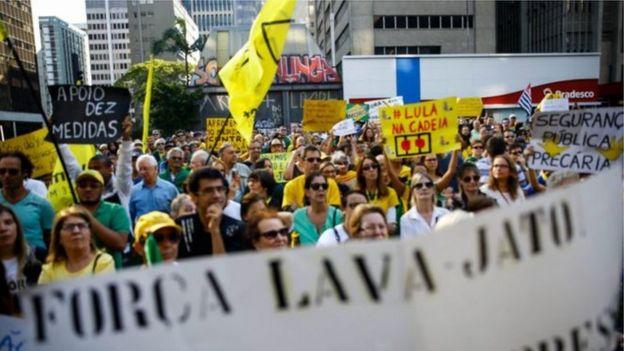 Manifestação em 2016