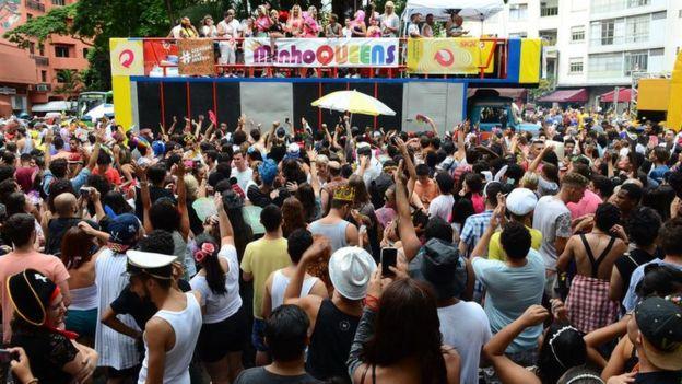 Bloco de rua em São Paulo