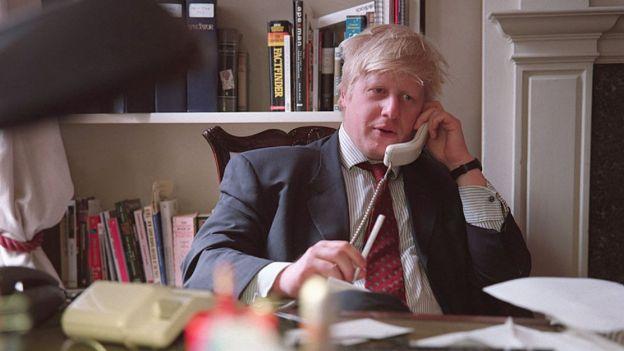 Boris Johnson sebagai editor of the New Statesman in 2000, pemilu inggris