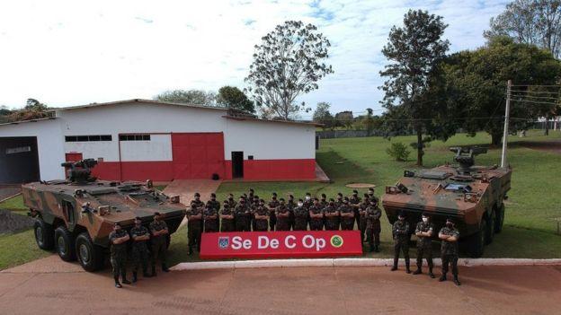 Entrega de blindados Guarani