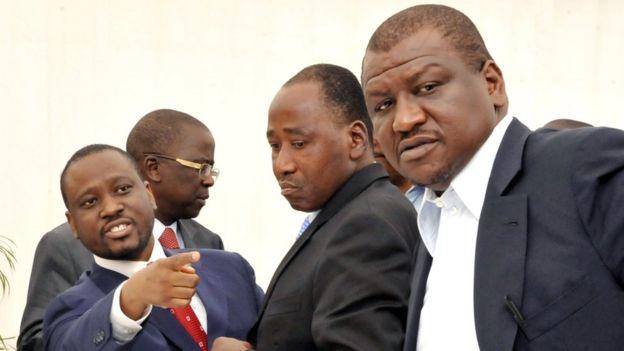 Amadou Gon Coulibaly, Guillaume Soro et Hamed Bakayoko