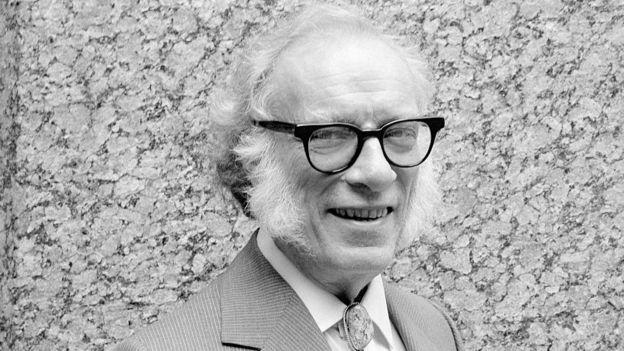 Primer plano de Isaac Asimov