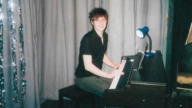 Nathaniel Hall playing the piano