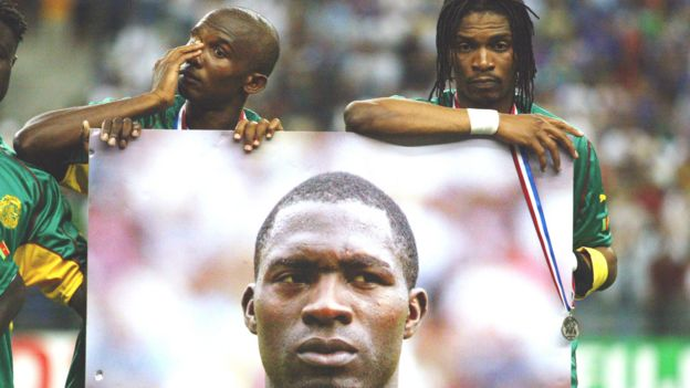 Le footballeur camerounais Marc-Vivien Foé a succomé à un arrêt cardiaque en 2003.