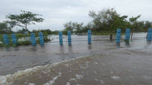 Inundación en Camagüey.