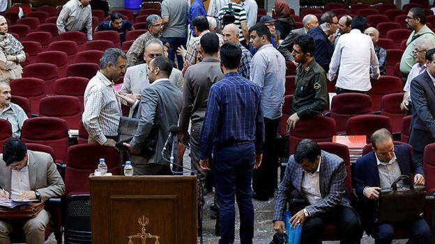 نهمین جلسه رسیدگی به این پرونده امروز دوشنبه (۲۵ تیر ماه) در دادگاه کیفری یک تهران برگزار شده است.