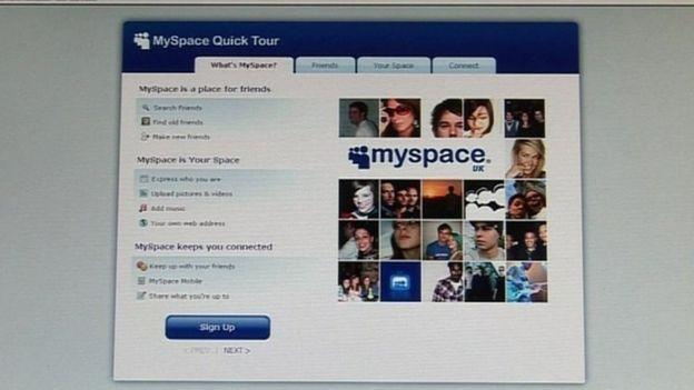 página web de MySpace
