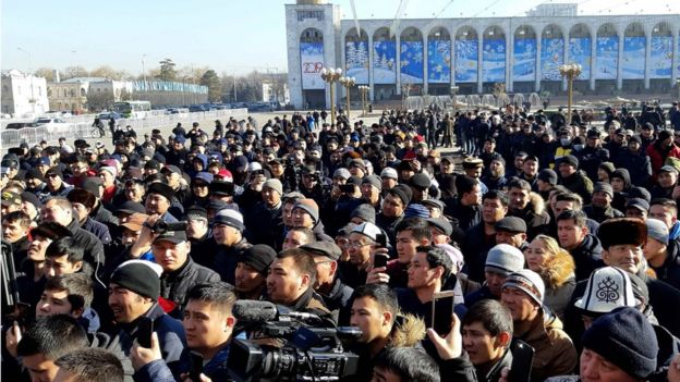 据记者现场所见,共数百人参加周三的示威。