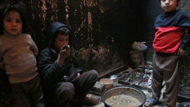Crianças na Síria