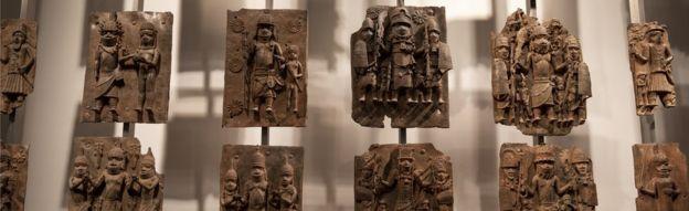 Benin Bronzes on display at the British Museum, November 2018