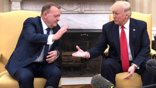 Danimarka Başbakanı Lars Lokke Rasmussen ve Donald Trump