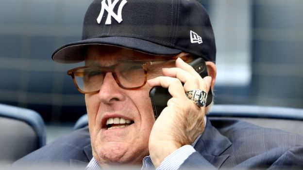 Rudy Giuliani speaking on the phone