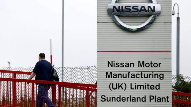 Man at Nissan plant