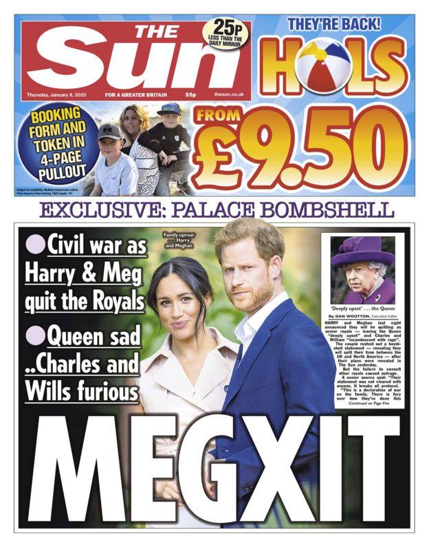 The Sun baş sayfa