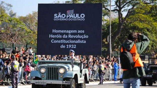 Celebração da Revolução Constitucionalista de 1932 realizada em 9 de julho de 2019