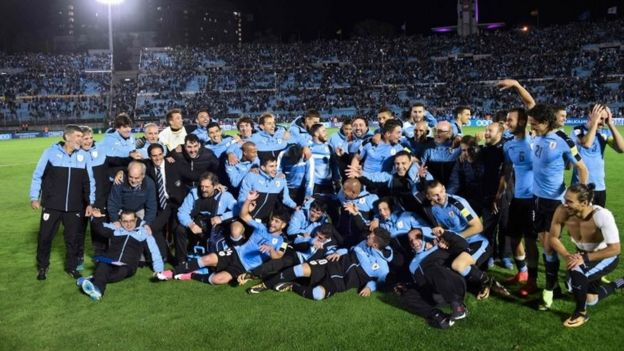 Resultado de imagen para uruguay clasifica a rusia 2018