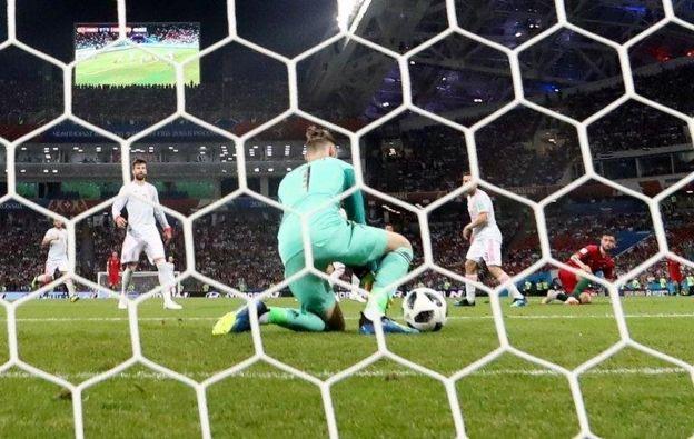 David de Gea con el error del Mundial.