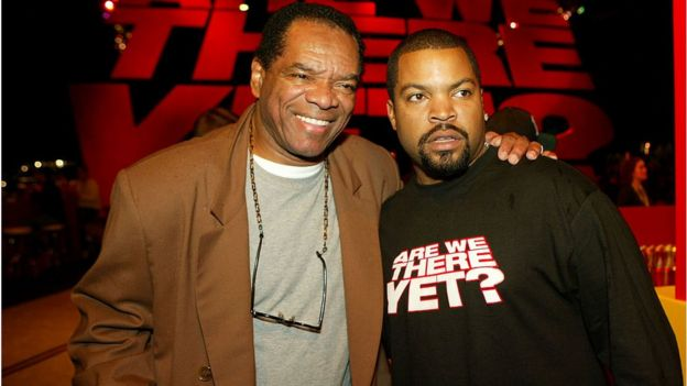 John Witherspoon with rapper Ice Cube.