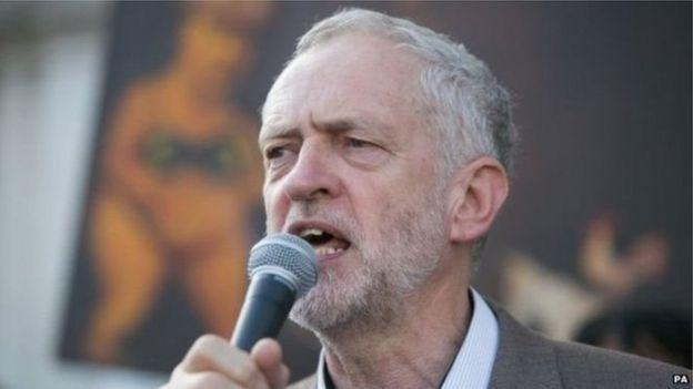 英国工党领袖科尔宾(Jeremy Corbyn)